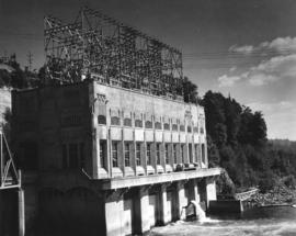 [Electric generator building on dam]