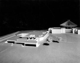 [Model of Centennial Archives Building - with model replica of Centennial Museum and H.R. MacMill...