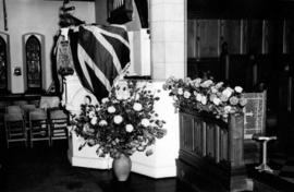 [Flowers decorating the interior of Christ Church Cathedral for royal visit]
