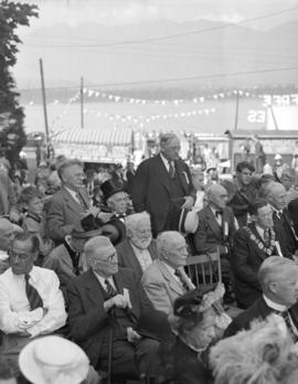 [W.J. McGuigan, Alderman, and acting Mayor Jack Price, Brenton J. Brown and others at the rededic...