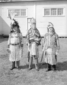 [Men dressed as] Indian Chiefs at Canadian Pacific Exhibition
