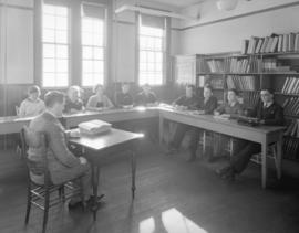 [Students and teachers in classroom at] School for Deaf and Blind [4100 West 4th Avenue]