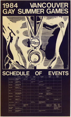 1984 Vancouver gay summer games : schedule of events