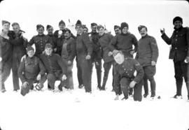 Group [of members of the] 79th [including James Crookall [at] Camp Everman