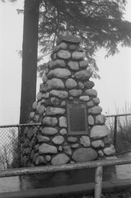 Stanley Park - S.S. Beaver Tablet and Cairn
