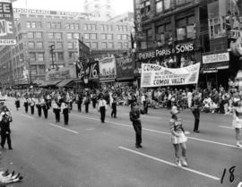 Comox District Band in 1955 P.N.E. Opening Day Parade