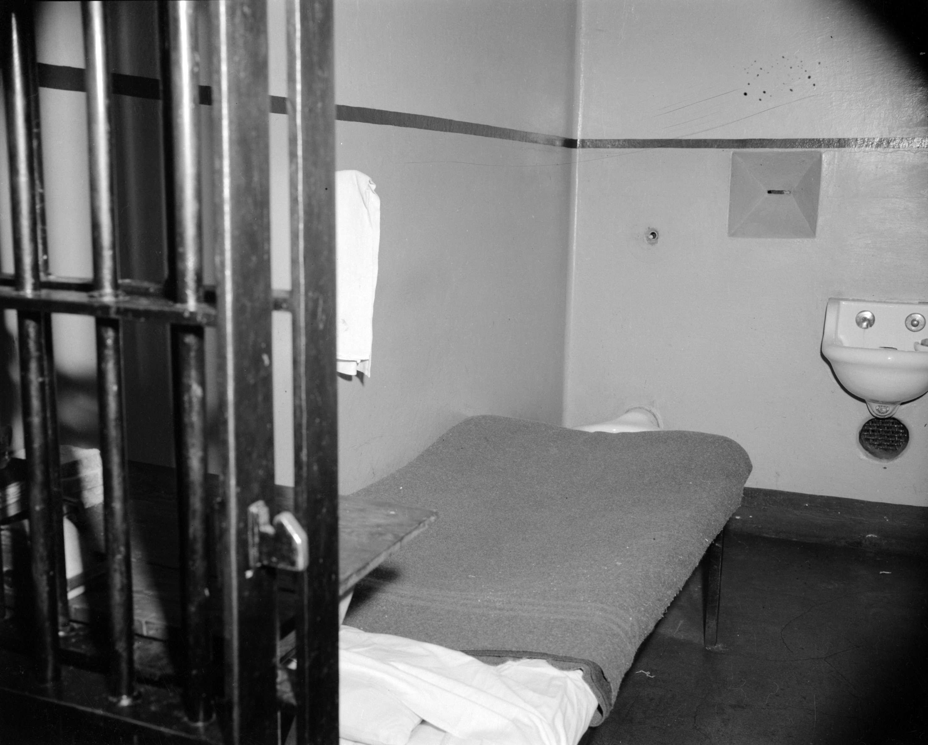 Interior View Of A Jail Cell At Oakalla Prison City Of