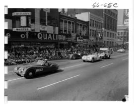 Sports Cars Club of B.C. Jaguar cars in 1956 P.N.E. Opening Day Parade