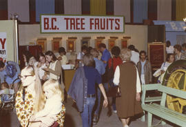 "B.C. Tree Fruits display in 1971 P.N.E. ""Centennial City - Acres of Food"" exhibit, P.N...."