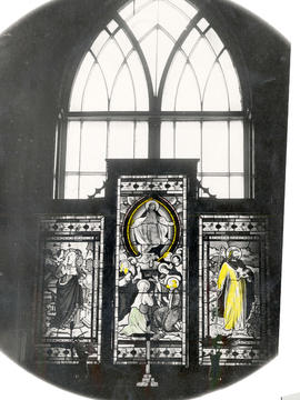 [A paper window in St. Mary's Church]