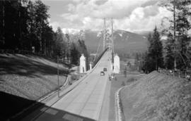 [View looking north of the south end of the Lions Gate Bridge]