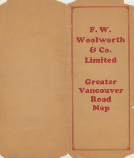 Greater Vancouver road map : map cover