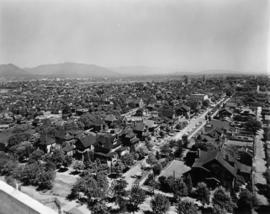 Vancouver looking east from City Hall, 1936