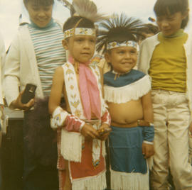 [First Nations children at celebrations at Brockton Oval]