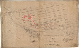 Plan shewing location of sewers on C.P.Rly. [Canadian Pacific Railway] industrial sites