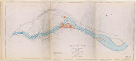 Cheakamus power survey for City of Vancouver 1930-1931. Plan showing proposed diversion works nea...