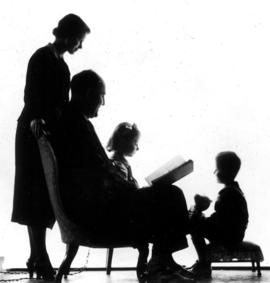More of them [silhouettes of Beatrice Timmins, W.O. Banfield, Jane Banfield and John Banfield]