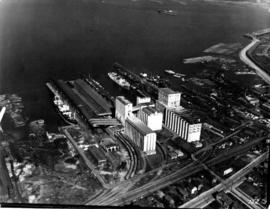 Aerial view of eastern portion of Vancouver Harbour showing Vancouver Terminal