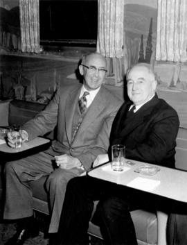 "[William Manson, Vice President, CPR, and Major J.S. Matthews during the launch of ""The Cana..."