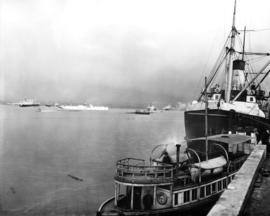 [Grain ships in Vancouver Harbour]