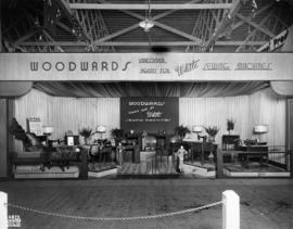Woodward's display of White brand sewing machines