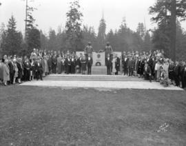 [Vancouver Shrine Club group portrait at Harding Memorial]