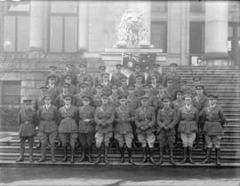 Group of Australian officers [at Courthouse]
