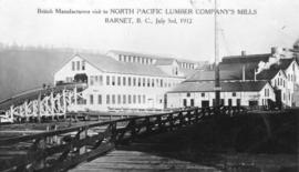 Log Slip and Power House - British Manufacturers Visit to North Pacific Lumber Company's Mills
