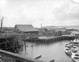 [Robertson and Hackett Sawmill and Wallace boat yard at the south foot of Granville Street in Fal...
