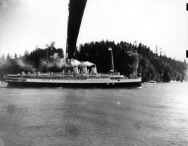 "[S.S. ""Marguerite"" under the Lions Gate Bridge after the visit of King George VI and Qu..."