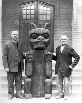 Bear Totem from Kitimat, 1898 (Symbol of Strength) Dr. Raley and Chief Sepass of Skowkale