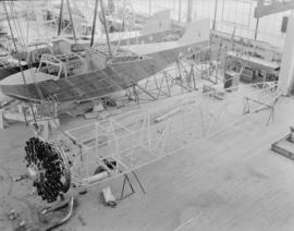 Boeing Aircraft Co. of Canada, [40H-4 mail plane fuselages with two C204 flying boat hulls (behind)]