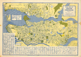 Wall map of Greater Vancouver