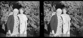 James Crookall's mother and another relative in garden of house at 3746 Eton Street