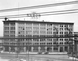 [Commercial building at Water and Codova Streets]