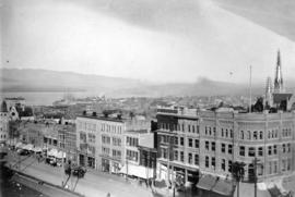 [View of the east side of the 600 block Granville Street]