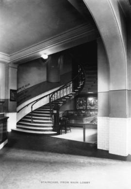 Staircase, from main lobby [Vancouver museum]