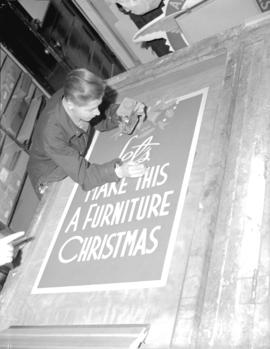Hudson Bay Company - silk screen [for Christmas display]