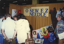 "Clarke's ""O Sew E Z"" needle display booth"
