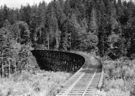 Green Point Logging Co. Ltd. [trestle with sprinkler system to reduce fire hazard]
