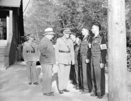 General Pearkes inspecting B.C. Police unit