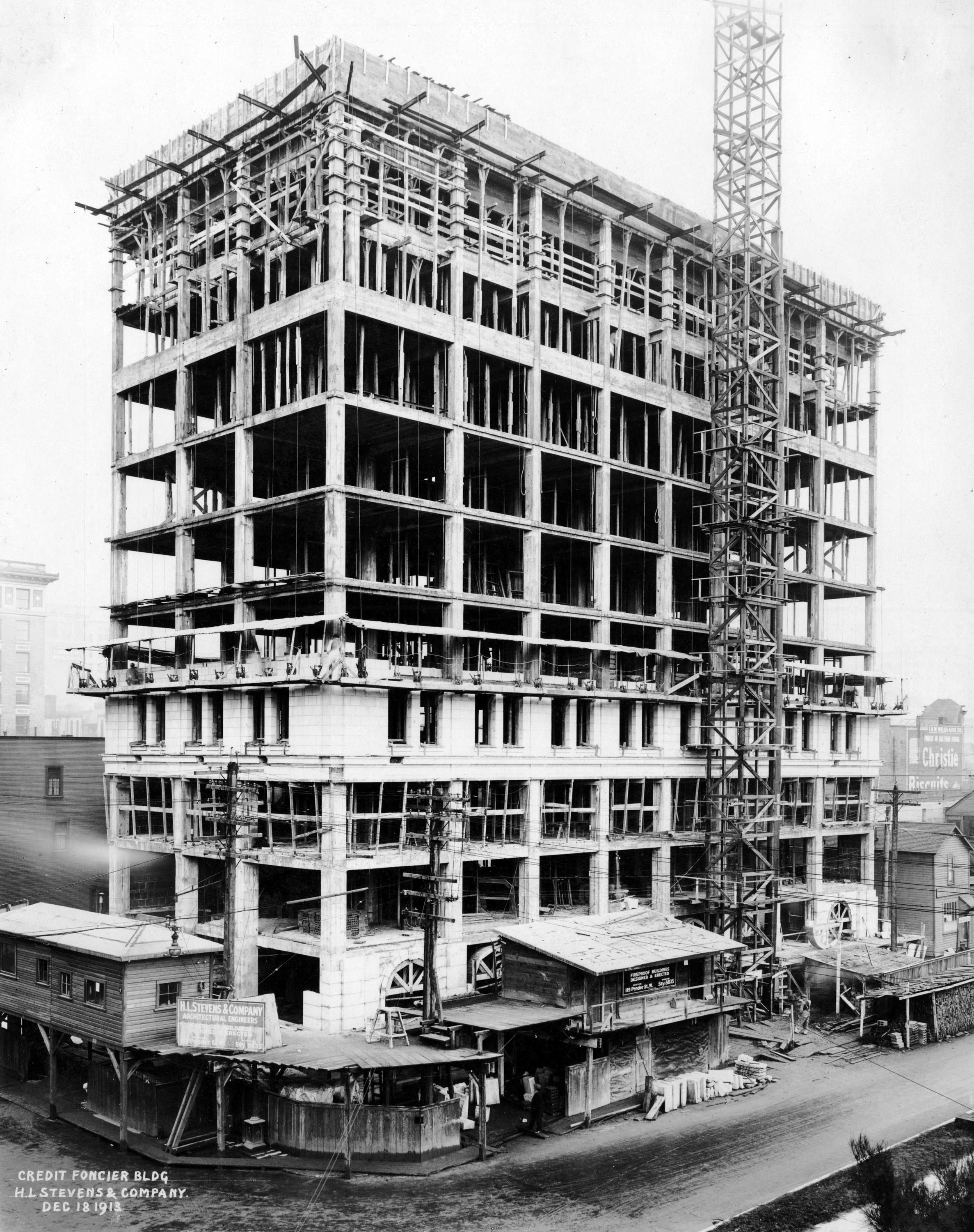 Building Under Construction : Credit foncier building under construction city of