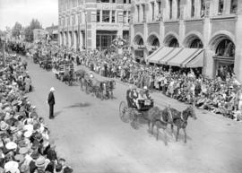 [Carts and Carriages in the] Calgary Stampede [parade]