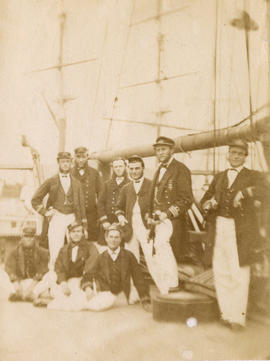 "[Group portrait of the officers of H.M.S. ""Styx""]"