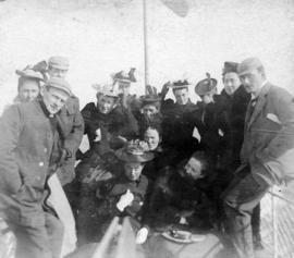 "[A group on the deck of the S.S. ""Volunda""]"