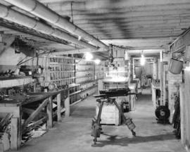 Basement of B.C. Equipment [at 551 Howe Street]