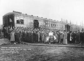 Opening ceremonies of North-Shore line P.G.E. Railway