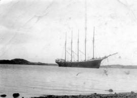 Schooner 'Edward B. Windslow' at Antigonish Harbour to load pulp wood