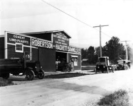 [Robertson and Hackett Sawmills Ltd. wholesale and retail store]