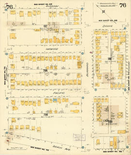 Plate 76 [Hornby Street to Burnaby/Drake Streets to Thurlow Street to Beach Avenue]